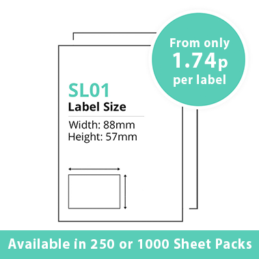 Single Integrated Label SL01 – 250 or 1000 Sheets