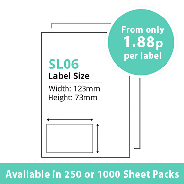Single Integrated Label SL06 – 250 or 1000 Sheets