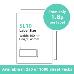 Single Integrated Label SL10 – 250 or 1000 Sheets