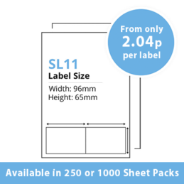 Double Integrated Label SL11 – 250 or 1000 Sheets