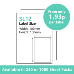 Single Integrated Label SL12 – 250 or 1000 Sheets