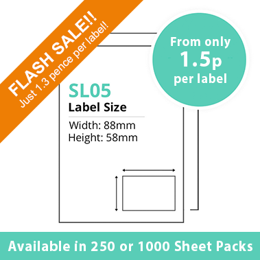Single Integrated Label SL05 – 1000 Sheets