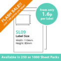 cheap single integragted label sl09
