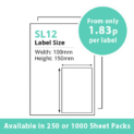 cheap single integragted label sl12