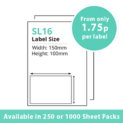 cheap single integragted label sl16