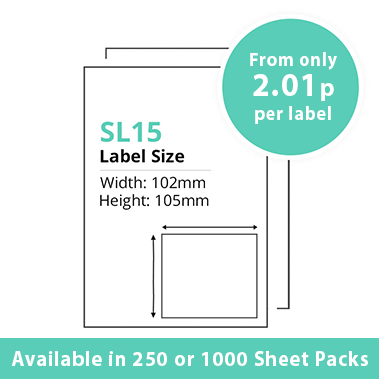 Single Integrated Label SL15 – 250 or 1000 Sheets
