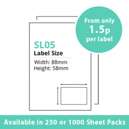 cheap single integragted label sl05
